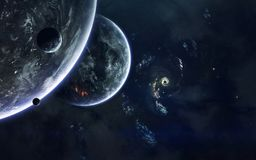 Imagem da ficção de ciência espacial Elementos desta imagem fornecidos pela NASA foto de stock