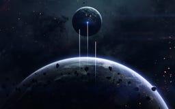 Imagem da ficção de ciência espacial Elementos desta imagem fornecidos pela NASA imagens de stock