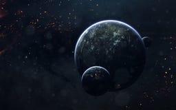 Imagem da ficção de ciência espacial Elementos desta imagem fornecidos pela NASA fotografia de stock