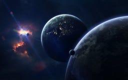 Imagem da ficção de ciência espacial Elementos desta imagem fornecidos pela NASA fotos de stock