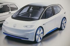 Imagem da foto do carro do novo conceito de Volkswagen foto de stock
