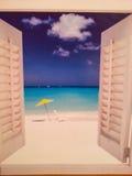 Imagem da janela do verão Fotografia de Stock Royalty Free
