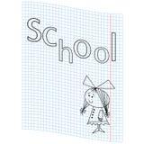 Imagem da menina da escola Imagens de Stock