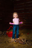 A menina em uma sega fotografia de stock royalty free