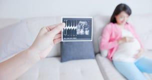 Imagem da mostra da mulher gravida imagens de stock royalty free