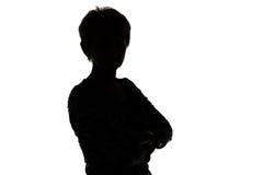 Imagem da mulher adulta da silhueta foto de stock