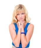 Mulher calma e séria Fotos de Stock Royalty Free
