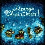 Imagem da noite de Natal Fotografia de Stock