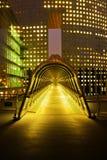 Imagem da noite em Paris, defesa do La imagem de stock royalty free