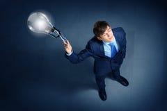 Imagem da opinião superior do homem de negócios Imagem de Stock