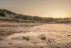 Imagem da paisagem da baía de Langland em Swansea Imagem de Stock Royalty Free