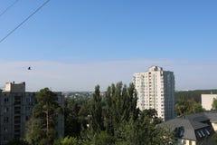 Imagem da paisagem da cidade no verão Imagens de Stock Royalty Free