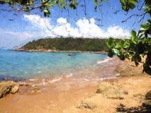 Imagem da paisagem da praia, arte digital imagens de stock