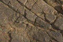 Imagem da parede da textura da rocha close up do fundo Imagem de Stock