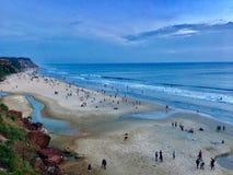 Imagem da praia de Varkala do penhasco foto de stock