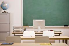 Imagem da sala de aula da escola imagens de stock