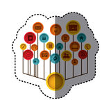 imagem da site dos ícones da tecnologia ilustração do vetor