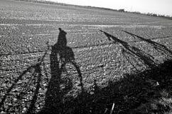 Imagem da sombra do ciclista Imagens de Stock Royalty Free
