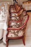 Imagem da tabela servida no restaurante Imagens de Stock