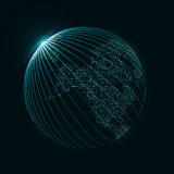 Imagem da tecnologia do globo Imagens de Stock
