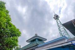 Imagem da torre da mesquita fotografia de stock
