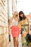 Imagem das duas amigas atrativas Fotografia de Stock Royalty Free