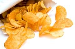 A imagem das microplaquetas de batata Imagens de Stock