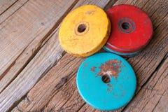 Imagem das panquecas para pesos Foto de Stock