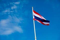 Imagem de acenar a bandeira tailandesa Fotografia de Stock Royalty Free
