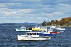 Barcos de Maine fotografia de stock