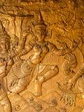 A imagem de belas artes tailandesas na porta do templo Fotografia de Stock Royalty Free