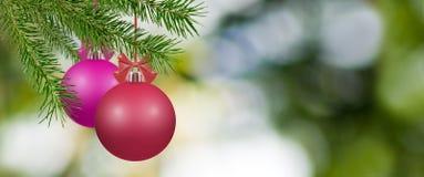 Imagem de bolas do Natal Fotos de Stock