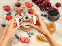 Imagem de bolos doces Foto de Stock Royalty Free
