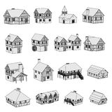 Imagem de casas medievais Fotografia de Stock
