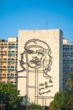 Imagem de Che Guevara na frente do quadrado da revolução, Havana Imagem de Stock Royalty Free
