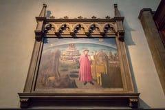 Imagem de Dante e da comédia divina na igreja fotografia de stock royalty free