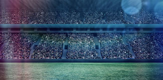 Imagem de Digitas do estádio de futebol aglomerado 3d Fotos de Stock Royalty Free