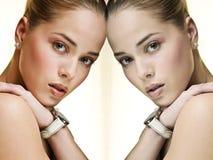 Imagem de espelho Fotografia de Stock Royalty Free