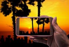 Imagem de fotografias do tiro com smartphone Fotografia de Stock