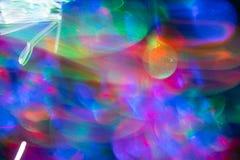 Imagem de fundo abstrata de néon colorida Tirando com luz, borrão de movimento imagens de stock