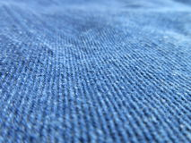 Imagem de fundo azul da sarja de Nimes Fotos de Stock Royalty Free