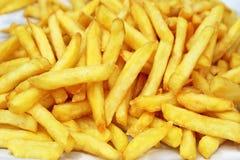 Imagem de fundo de batatas fritas salgadas deliciosas foto de stock royalty free