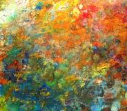 Imagem de fundo do close up brilhante da paleta da óleo-pintura Fotografia de Stock Royalty Free