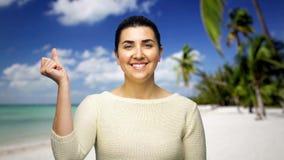 Imagem de fundo em mudança da mulher pela pressão do dedo vídeos de arquivo