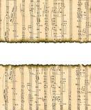 Imagem de fundo encantadora com notas musicais. Foto de Stock Royalty Free