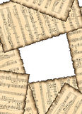 Imagem de fundo encantadora com notas musicais. Fotos de Stock Royalty Free