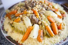 Imagem de fundo marroquina tradicional do alimento imagens de stock royalty free