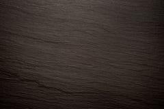 Imagem de fundo preta da textura da ardósia Fotos de Stock