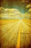 Imagem de Grunge da estrada Fotografia de Stock Royalty Free