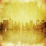 Imagem de Grunge da skyline de New York Fotos de Stock Royalty Free